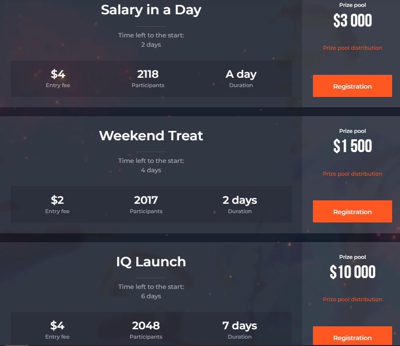 IQ Option Trading Turniere - Bis zu 50.000 $ Preispool